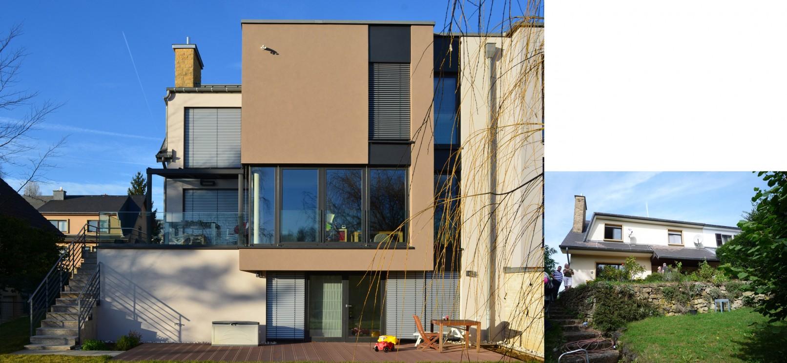 Extension d 39 une maison luxembourg cents wirtz architecte for Architecte luxembourg
