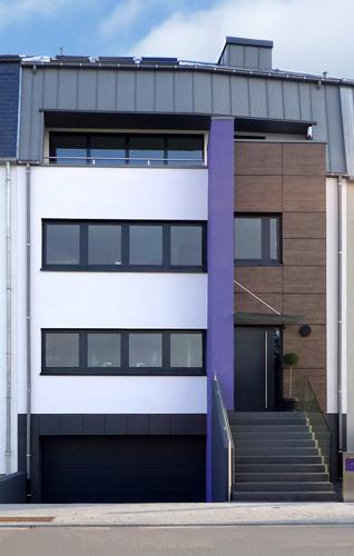 Maison mitoyenne luxembourg wirtz architecte for Architecte luxembourg